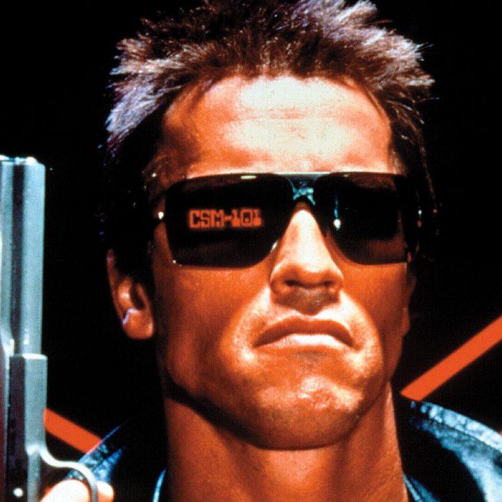 The Terminator (1984) Directed by James Cameron  Shown on key art: Arnold Schwarzenegger (as The Terminator)